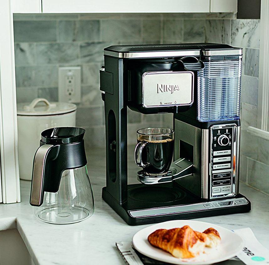 Ninjia Coffee Bar Glass Small Family Espresso Machine