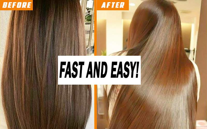 Fast and easy method for curly hair straightening