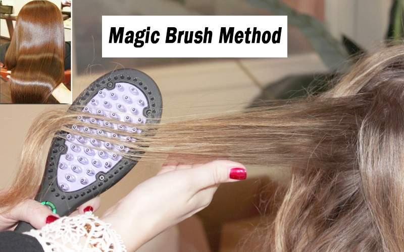 The Magic Brush Method for hair straightening