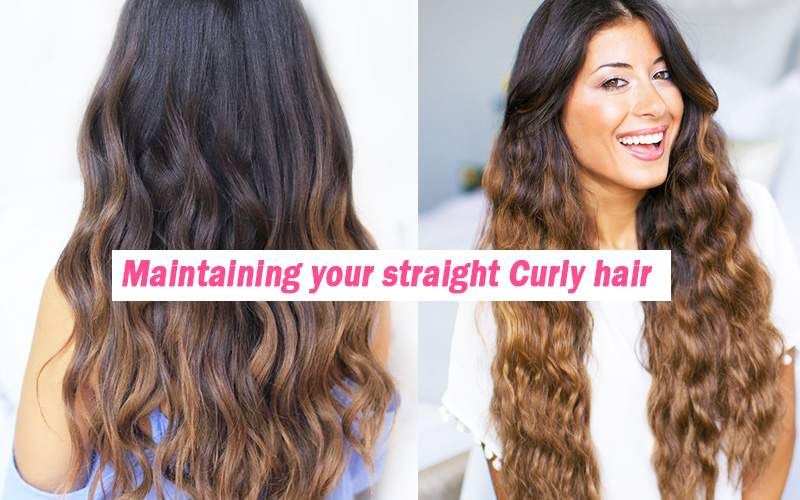 Maintaining straight Curly hair