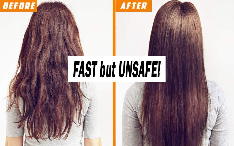 fast but unsafe method for hair straightening