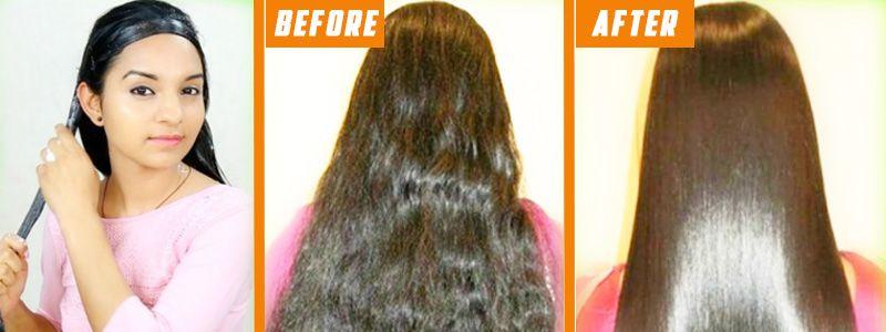 straighten curly hair naturally