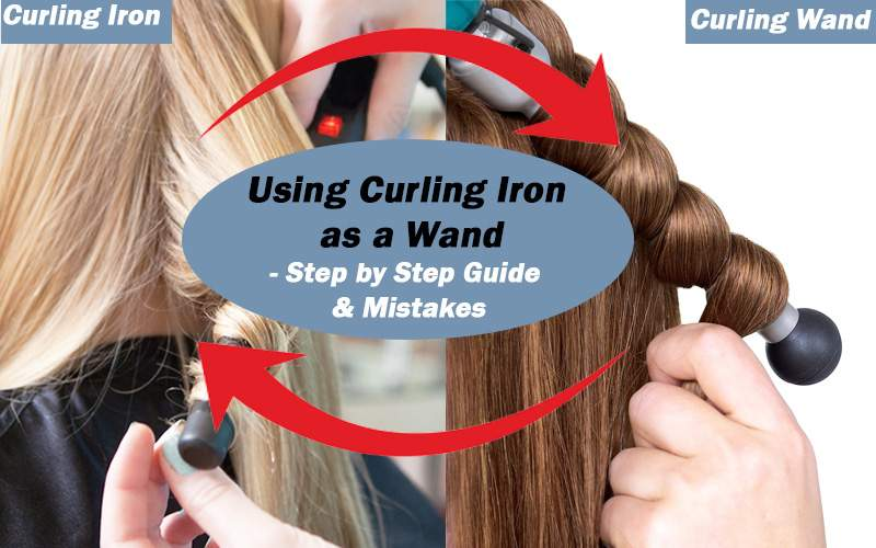 using curling iron as a wand