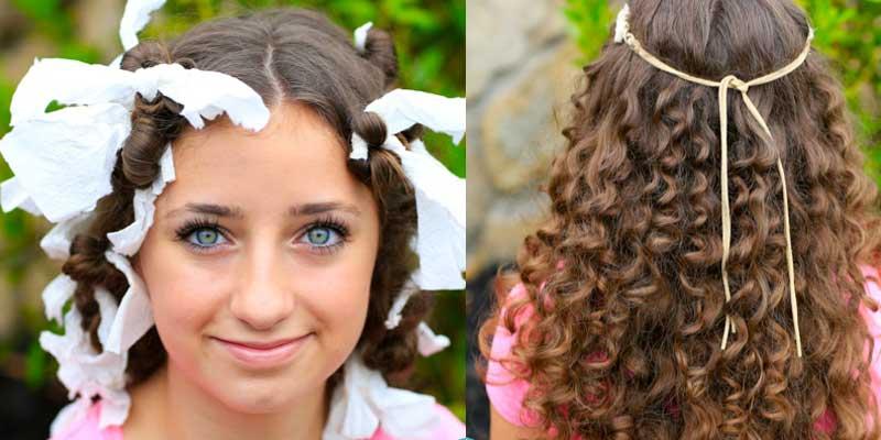 curl hair using paper towel