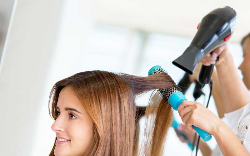 dry hair for straightening
