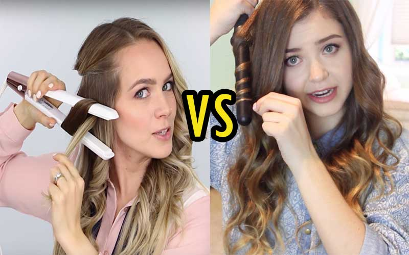 flat iron curls vs curling iron curls