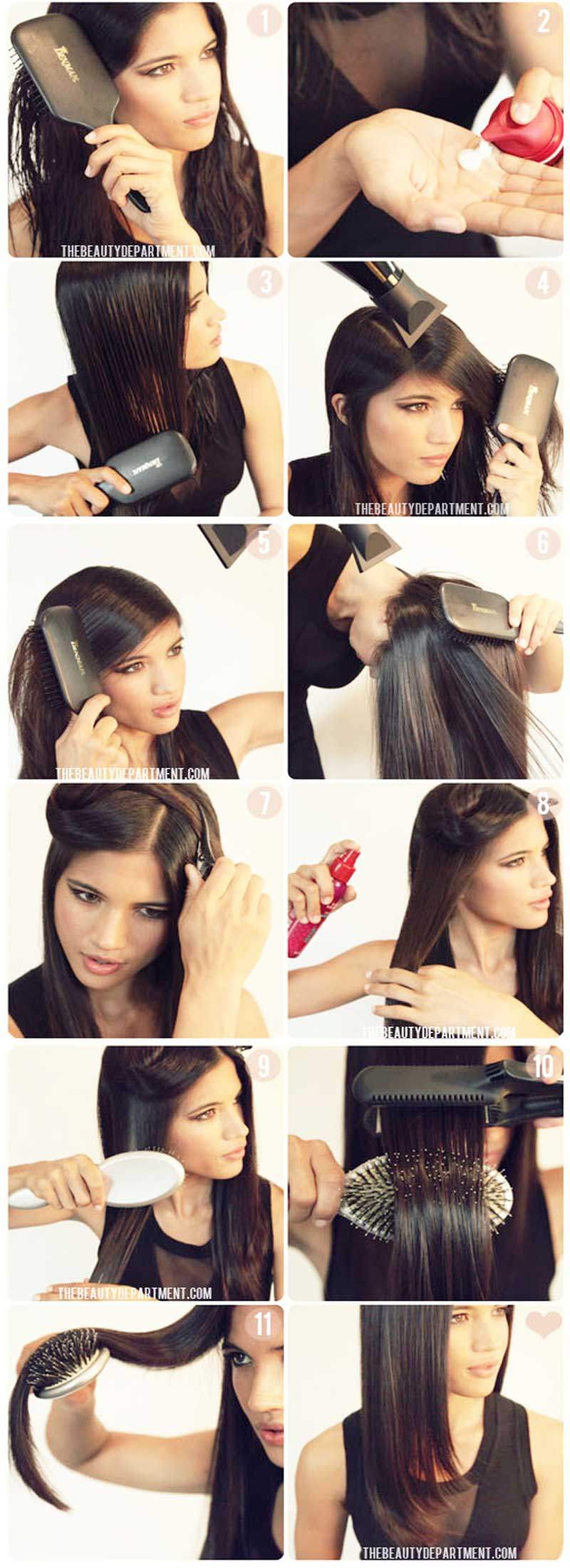 straightening hair step by step process