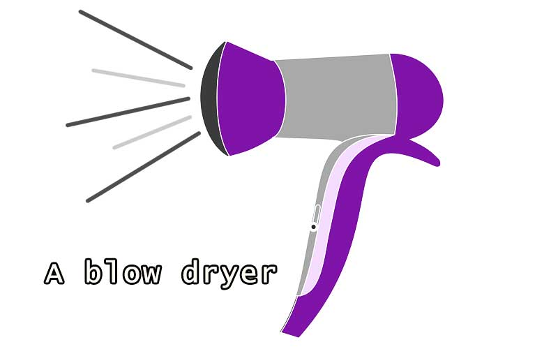 A blow dryer