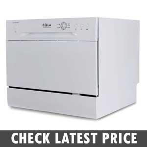 DELLA Mini Compact Countertop Dishwasher Review