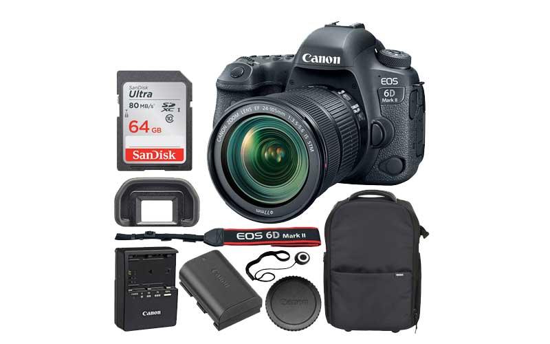 Canon EOS 6D Mark ll Digital Wifi Camera With SDXC Cards