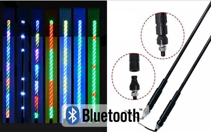 Bluetooth Control whip light
