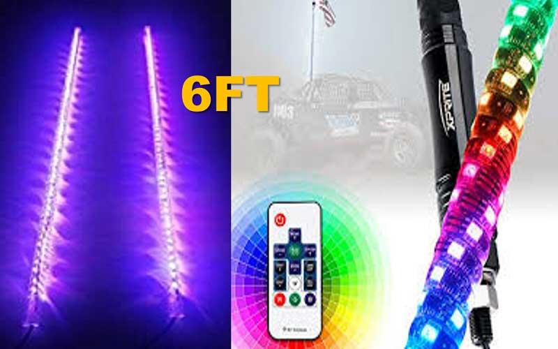 Xprite 2ft RGB Whip Light